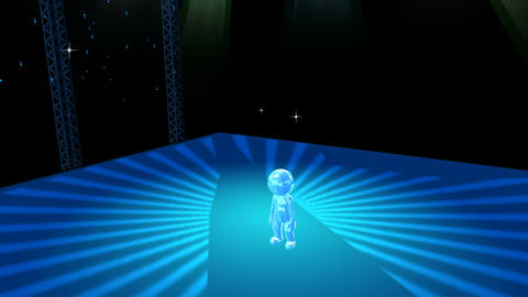 Animated Figure on Dance Stage Stock Video Footage