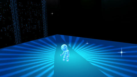 Animated Figure on Dance Stage Animation