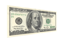One Hundred American Dollar Bill Rotating Live Action