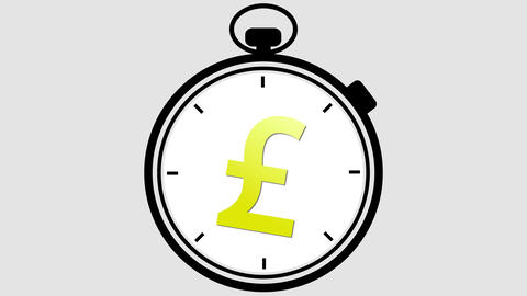 Stopwatch British Pound Symbol Animation
