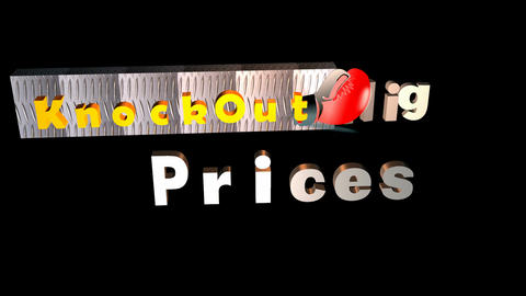 """""""Knock Out"""" Prices, Sales Animation Animation"""