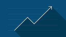 Finance Graph (blue) - Flat Design Animation