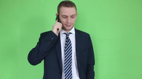 business man talking at phone close up Footage