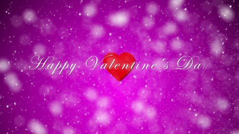 Valentines Day Glitter Purple with Text Loop Animation