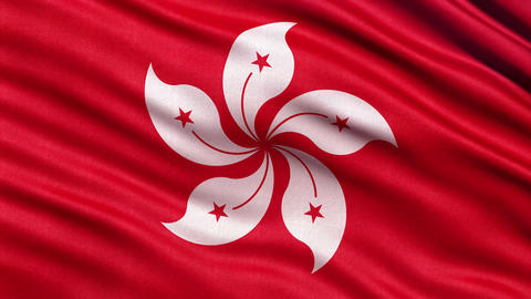 4K Flag of Hong Kong seamless loop Ultra-HD Animation