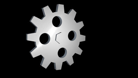3D gear alpha loop rotating ภาพเคลื่อนไหว