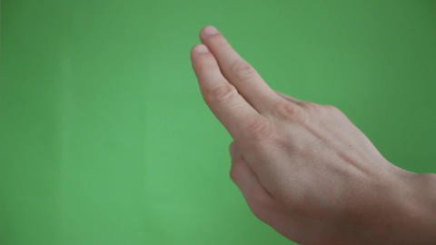 hands touch gestures green screen Footage