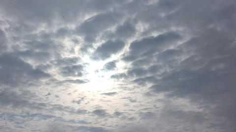 sunny time lapse clouds Footage