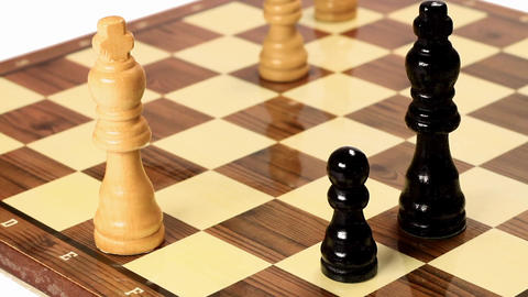 Chess pawn arrives to eighth rank… Footage