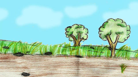 Cartoon Landscape stock footage