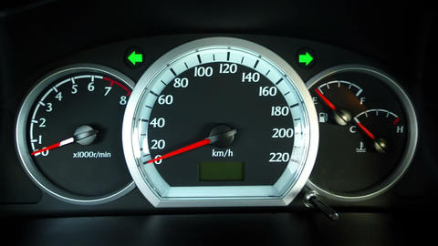 Alarms On The Car Dashboard stock footage