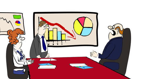 Business Cartoon 01 stock footage