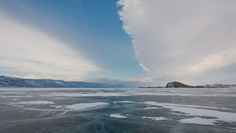 Winter wind zoom out timelapse 4K Footage