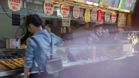 Shanghai Fast Food Timelapse 02 4K stock footage