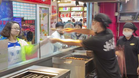 Shanghai Fast Food Timelapse 03 4K stock footage