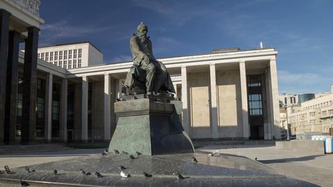 Dostoevsky monument hyperlapse 4K Footage