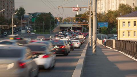 Urban city traffic timelapse 4K Footage