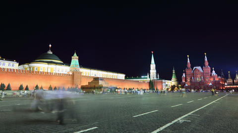 Kremlin night timelapse 4K Footage
