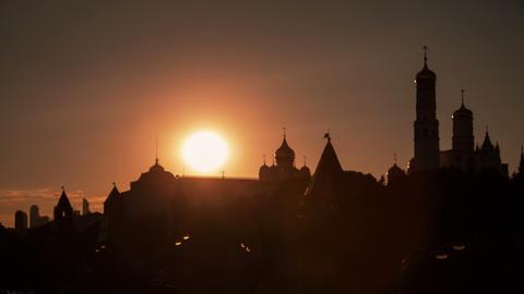 Kremlin sunset timelapse 4K Footage