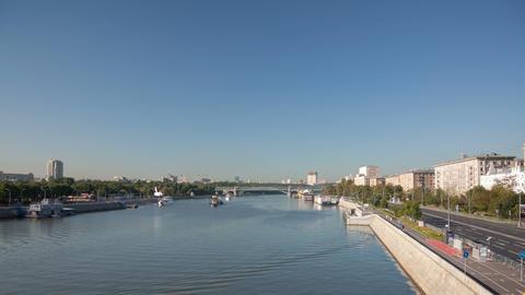 Krimsky bridge walking hyperlapse day 4K Footage
