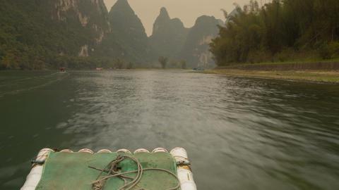 Li River Rafting Timelapse 4K stock footage