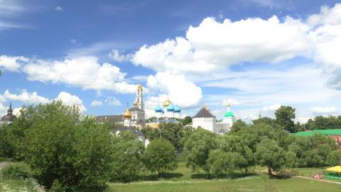 Holy Trinity Saint Sergius Lavra timelapse 4K Footage