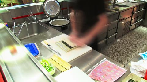 Sushi cooking timelapse 4K Footage