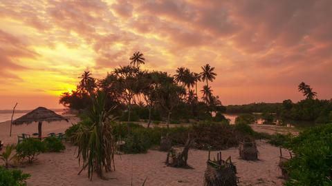 Marakolliya Beach Sunset Timelapse 4K stock footage