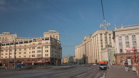 Okhotny Ryad street walk hyperlapse 4K Footage