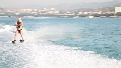 Water skiing 9310 Footage