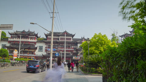 Way to Yuyuan Garden hyperlapse 4K Footage