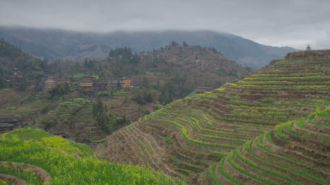 Rice terraces in Dazai village zoom timelapse 01 4 Footage