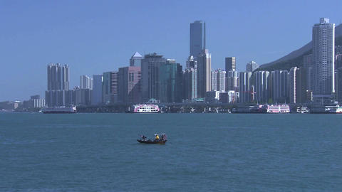 Hong Kong Harbour stock footage