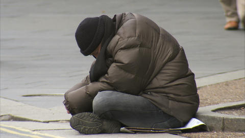 Homeless Person stock footage