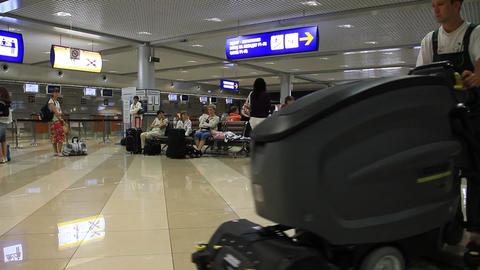 International airport Borispol. Waiting space in new terminal F Footage
