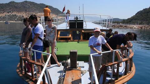 Voyage. Kekova-Simena Region, Turkey, Kemer, Andriake bay Footage