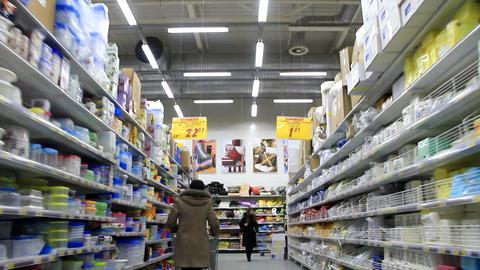 Buyers in supermarket Footage