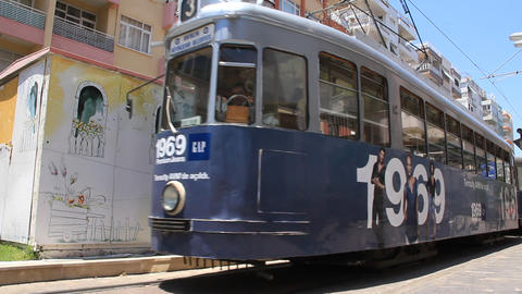 Tram in Antalya, Turkey Footage