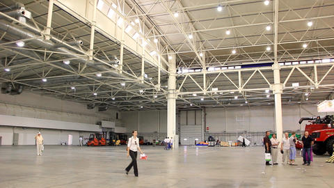 Spacious exhibition hall Footage