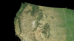 Oregon State Usa Extruded On The Satellite Map O Stock Video Footage