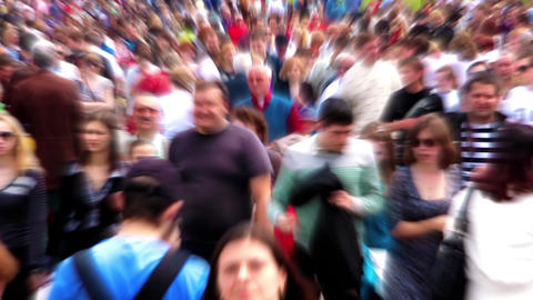 Anonymous Crowd Of People stock footage