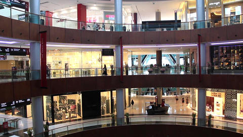 Dubai Mall from inside with buyers in Dubai, UAE Footage