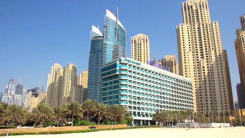 Dubai Marina. United Arab Emirates stock footage