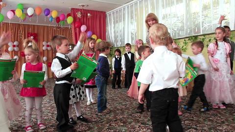 Children in kindergarten Footage