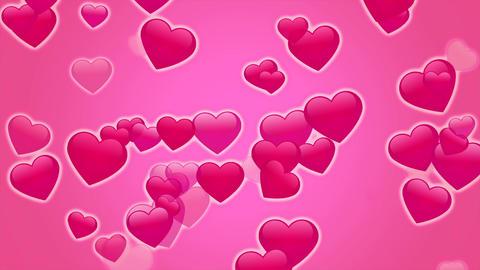 ハートたくさんパーティクル 濃いピンク Animation
