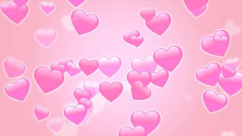 ハートたくさんパーティクル ピンク Animation