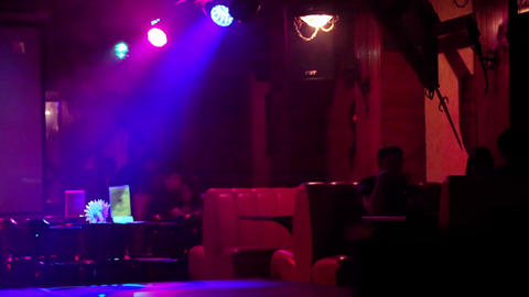 Waitress at a nightclub Footage