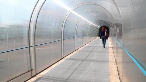 People inside tunnel Footage