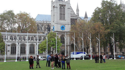 Westminster Abbey in London, England Footage