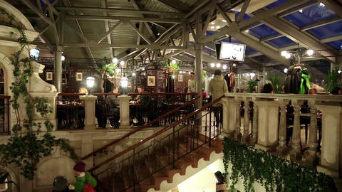 People inside restaurant Footage